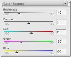 žuta izgoreno nebo balans boja
