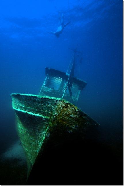 Nikola Hrženjak - potopljeni brod